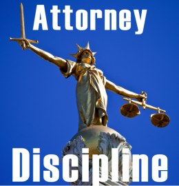 Attorney Discipline with Lady Justice Statue