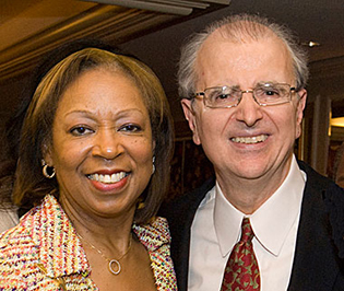 Former Chief Judge Jonathan Lippman with Hon. Rose H. Sconiers, Past Chair of the Commission