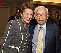 Former Chief Judge Judith S. Kaye with Hon. Lewis Douglass (Past Chair of the Commission)