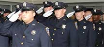 New York State Court officers Saluting